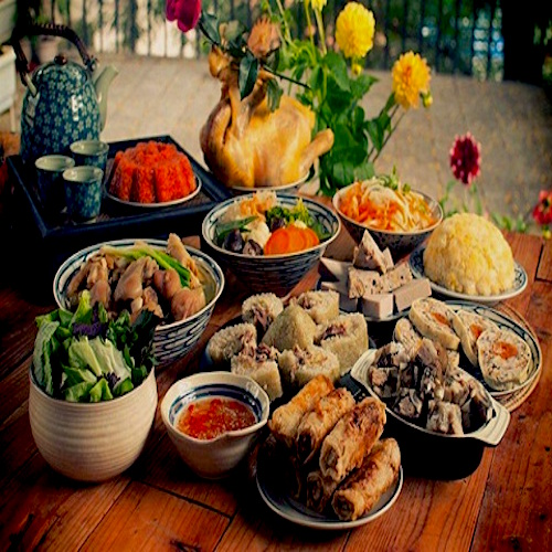 The delicious dishes in the Tet holiday